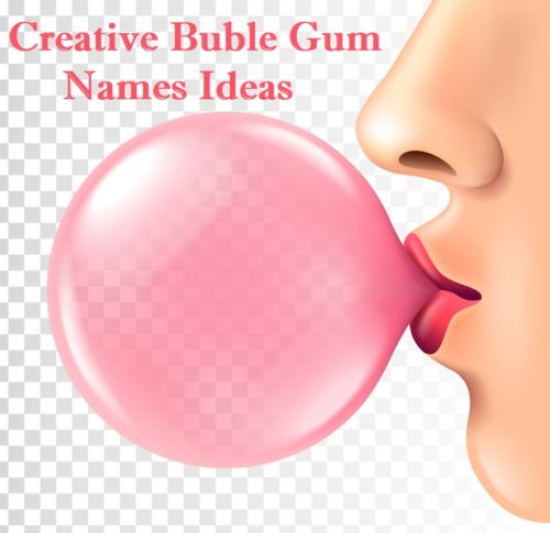 Female lips blowing pink bubble gum isolated vector 1